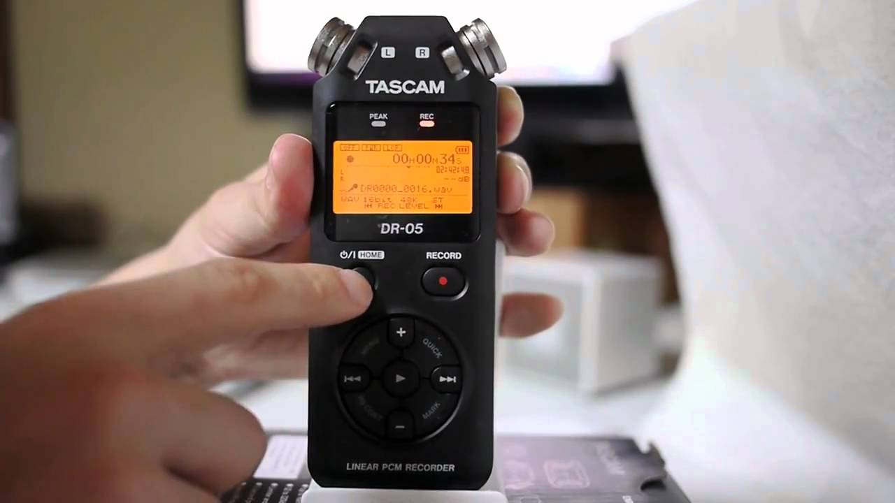 Recorder Audio Tascam DR-05 - Gear Review