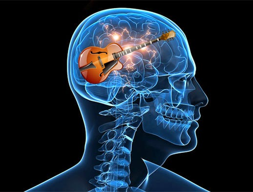 Image result for guitar player brain