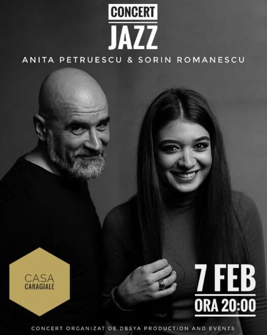 Concert de Jazz Anita Petruescu & Sorin Romanescu la Casa Caragiale