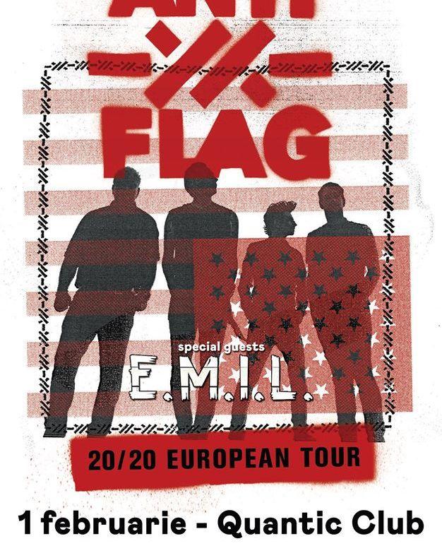 Concert Anti-Flag si E.M.I.L. in concert la Quantic