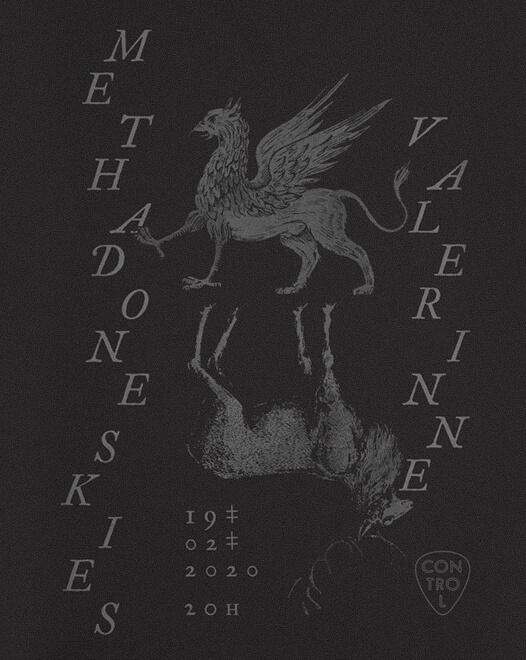 Concert Valerinne & Methadone Skies Live in Control Bucuresti