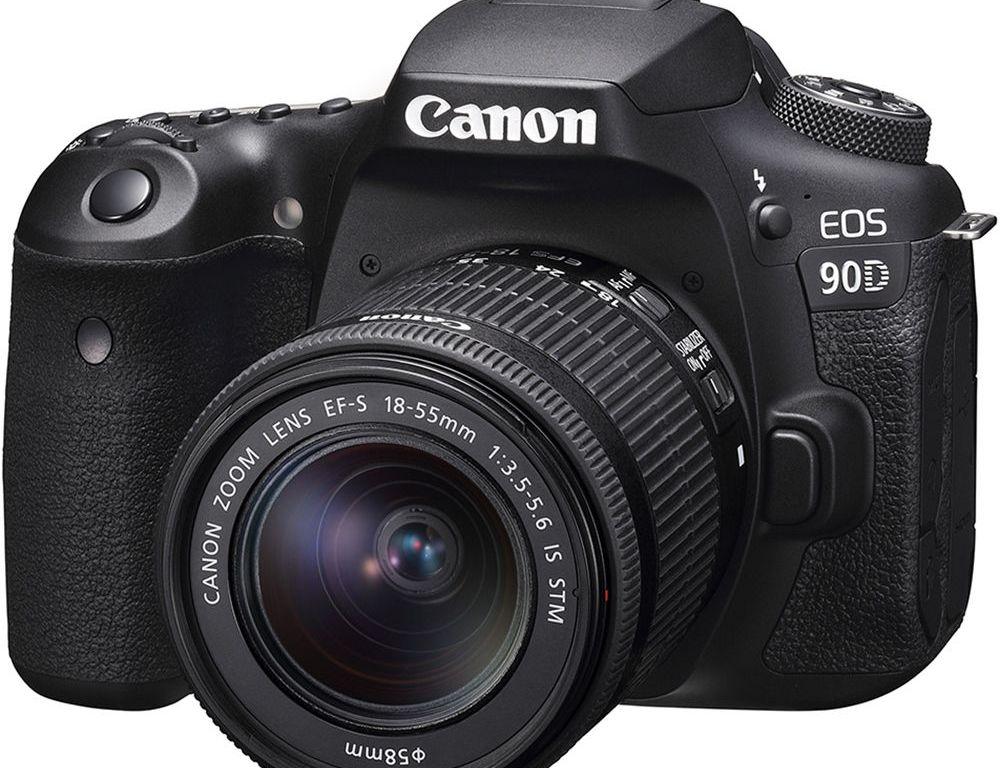 Aparat foto DSLR Canon EOS 90D, 32.5 MP, 4K, Negru + Obiectiv 18-135mm IS USM