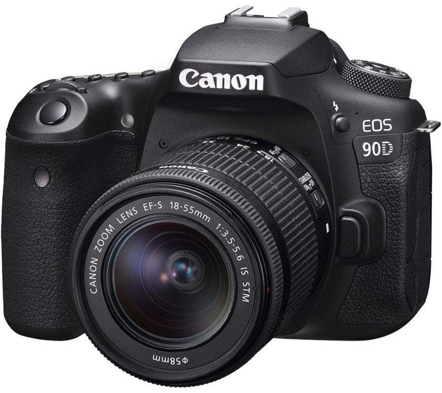 Aparat foto DSLR Canon EOS 90D, 32.5 MP, 4K, Negru + Obiectiv 18-135mm IS USM