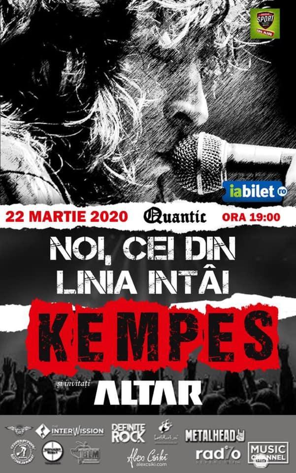 Concert Kempes si Altar - NOI, CEI DIN LINIA INTAI în Club Quantic Bucureşti