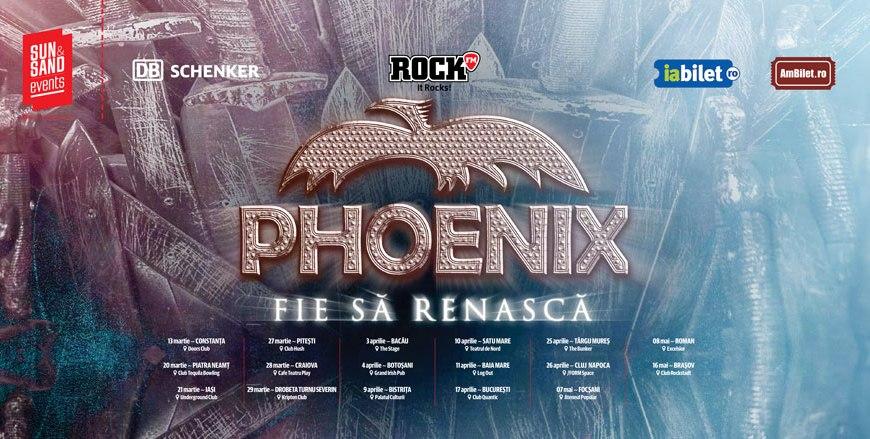 """Phoenix porneşte in turneul naţional """"Fie să renască"""" - 17 aprilie în Quantic alături de Riot Monk şi sanctuar"""