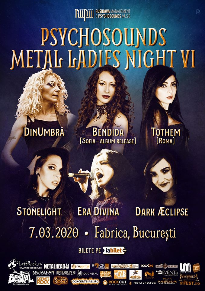 Psychosounds Metal Ladies Night VI in Club Fabrica Bucuresti