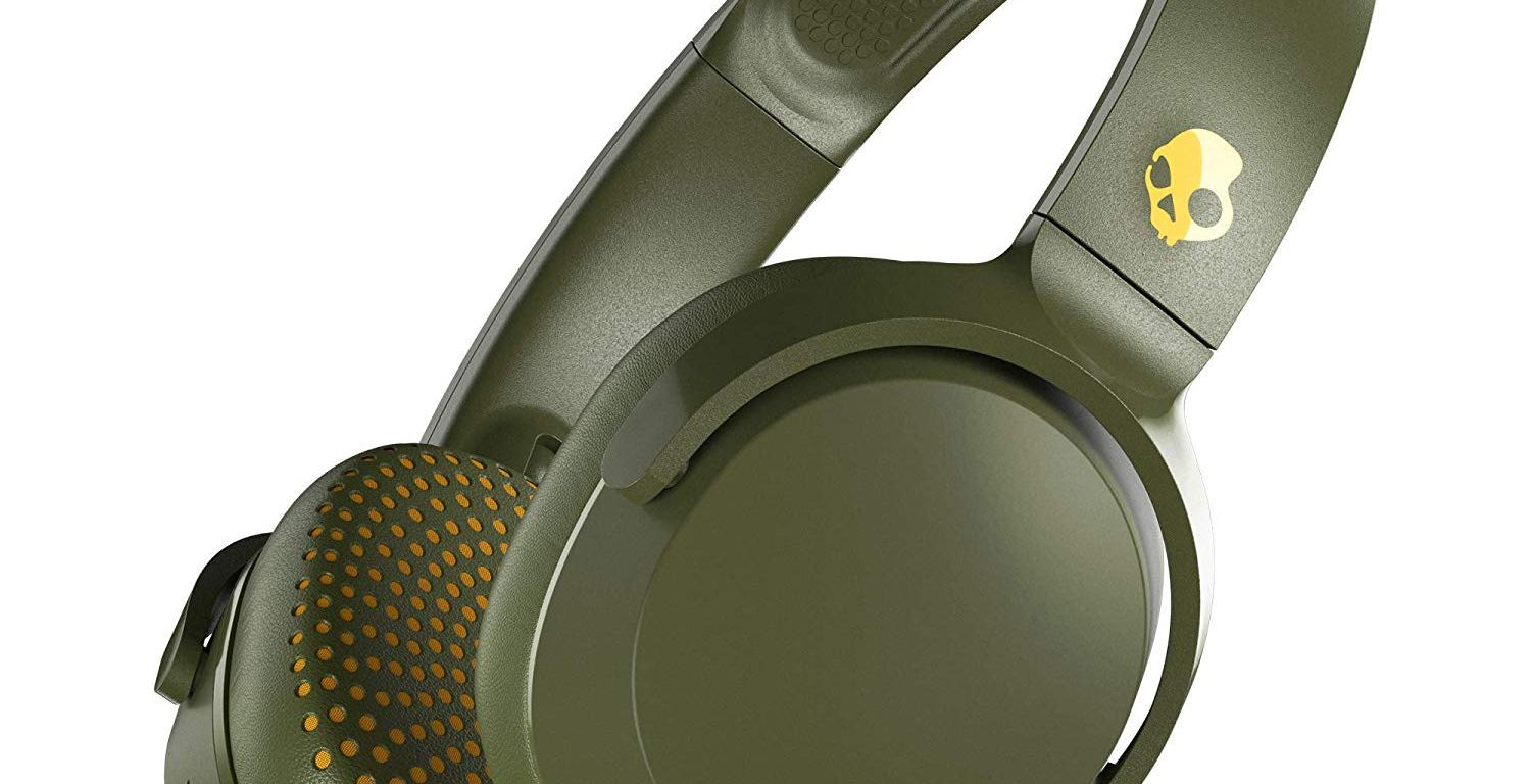Casti Audio On-Ear Skullcandy Riff, Bluetooth, Olive Moss Yellow