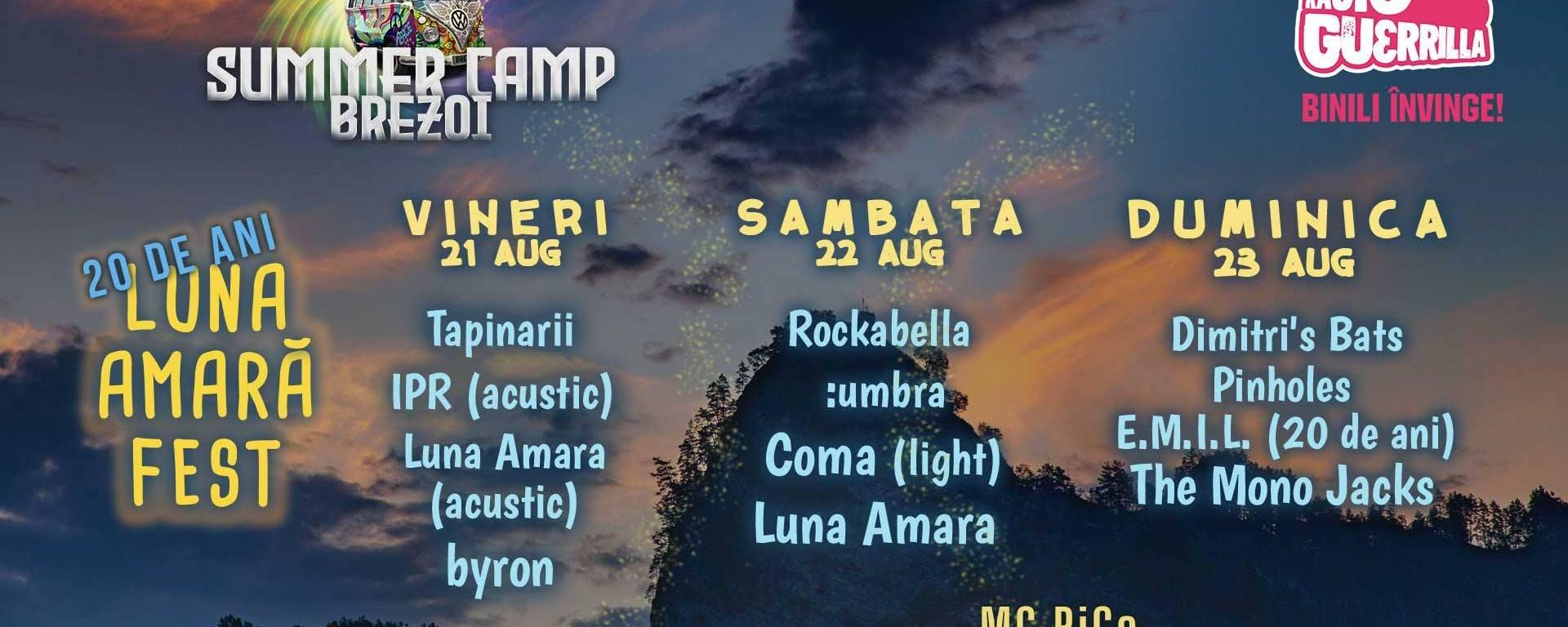 Luna Amară Fest - 20 de ani - Summer Camp Brezoi - 21 August