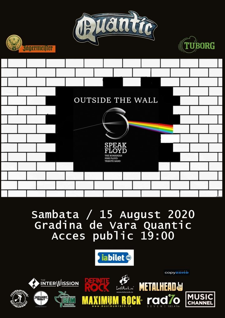 SPEAK FLOYD live la Quantic – sambata, 15 august 2020,