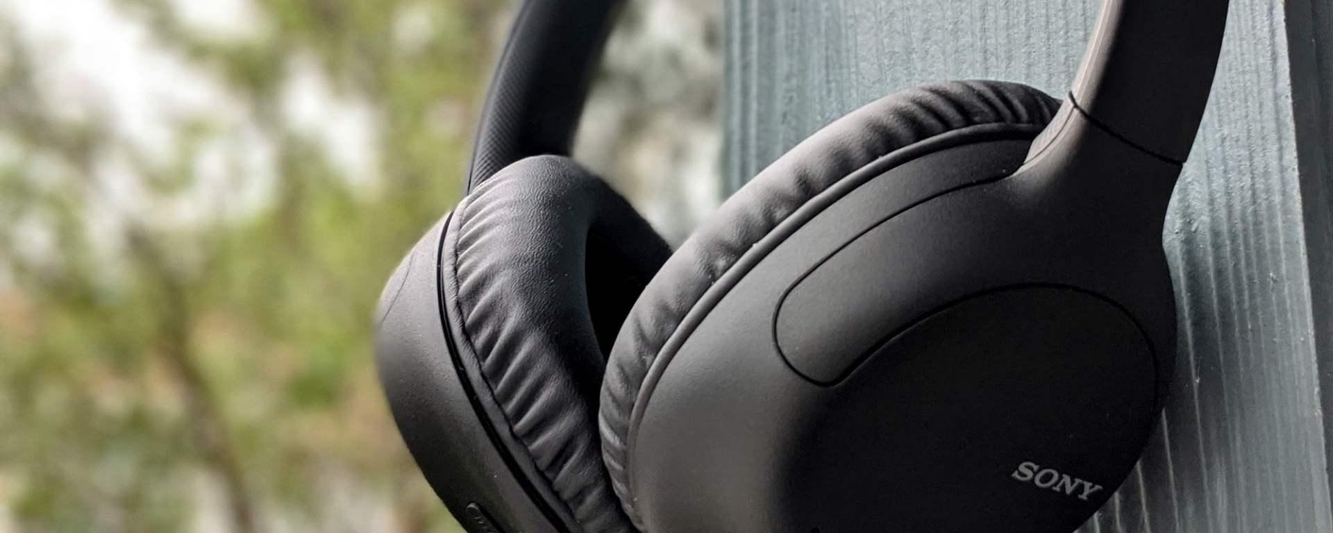 Casti audio Sony WH-CH710NB, Noise Canceling, Google Assistant, Wireless, Bluetooth, NFC, Autonomie de 35 ore, Negru