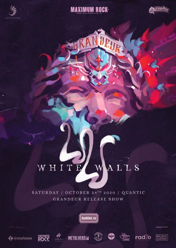 """White Walls - lansare album """"Grandeur'' / 24.10.2020, Quantic Club, Bucuresti"""