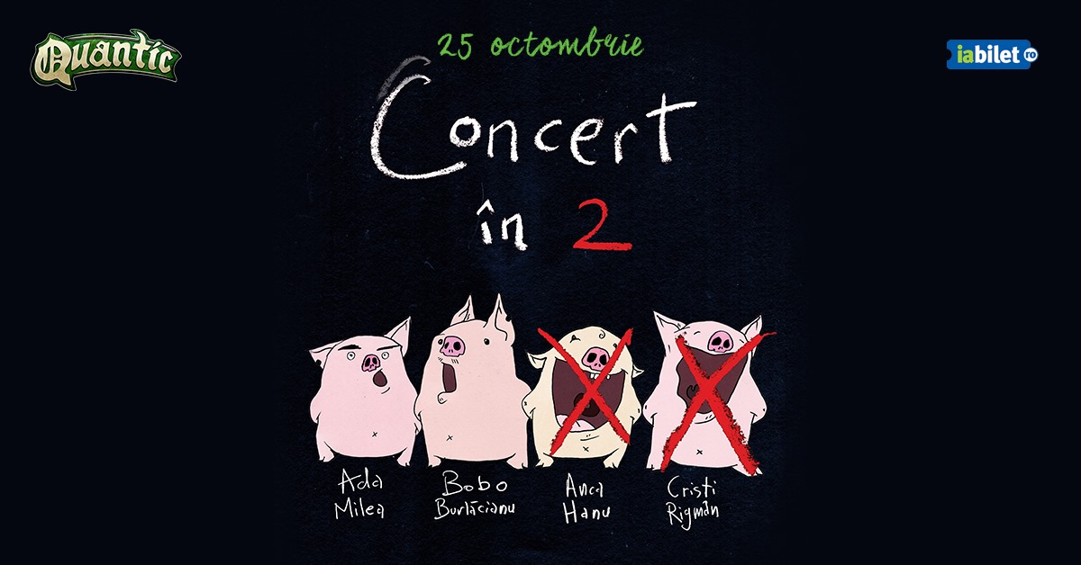 Concert in doi – Ada Milea si Bobo Burlacianu in Quantic - 25 Octombrie
