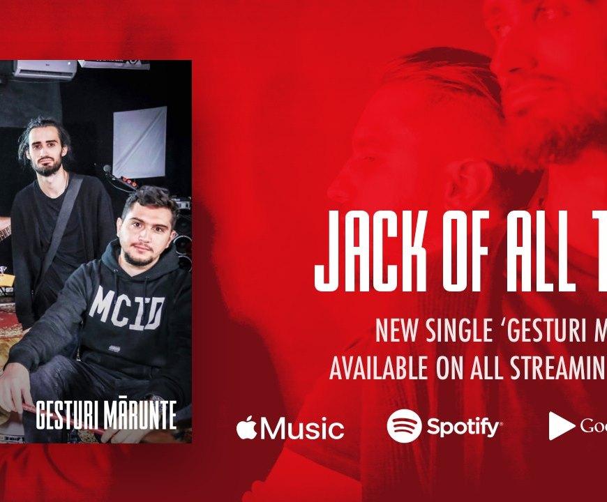 """Jack of All trades a lansat un nou videoclip. Acesta este pentru piesa """"Gesturi Marunte""""."""