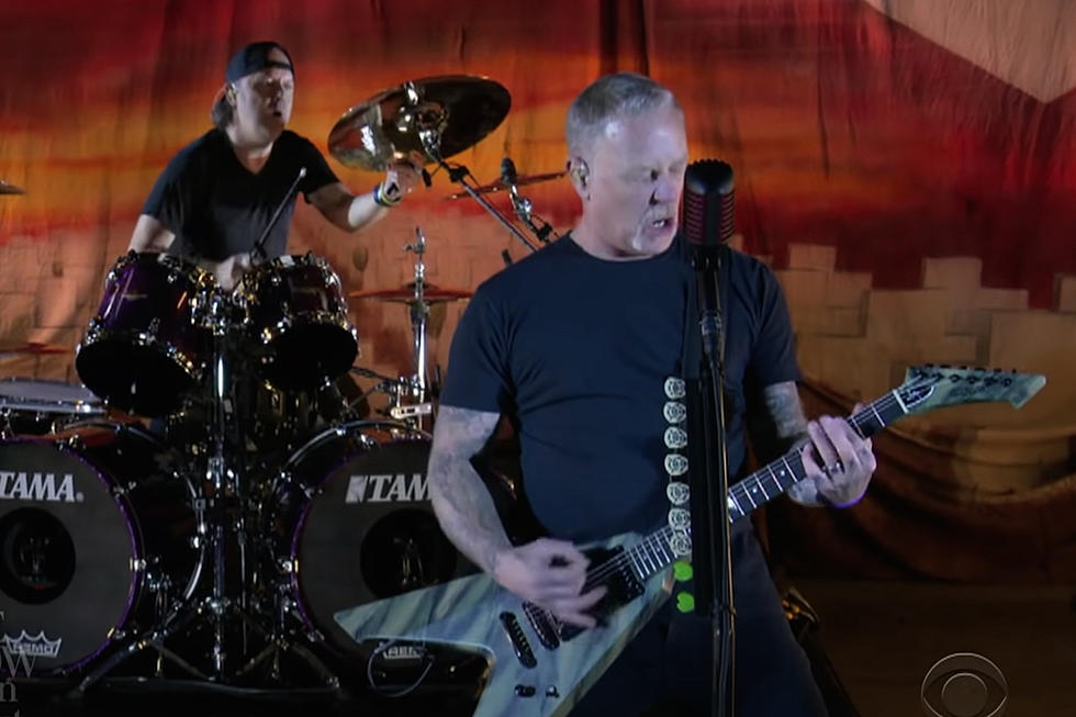 "Video: Metallica rup piesa ""Battery"" Live la The Late Show With Stephen Colbert"