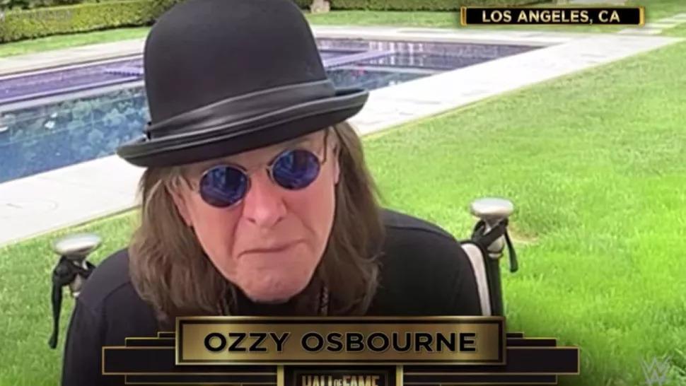 Ozzy Osbourne a fost indus în WWE Hall Of Fame