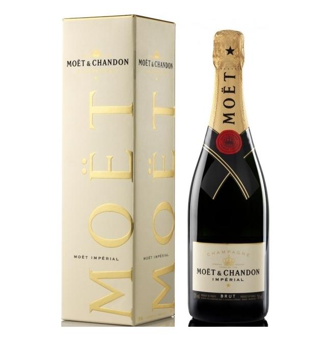 Sampanie, Moët & Chandon Imperial Brut Champagne + cutie, 0.75L, 12% alc., Franta