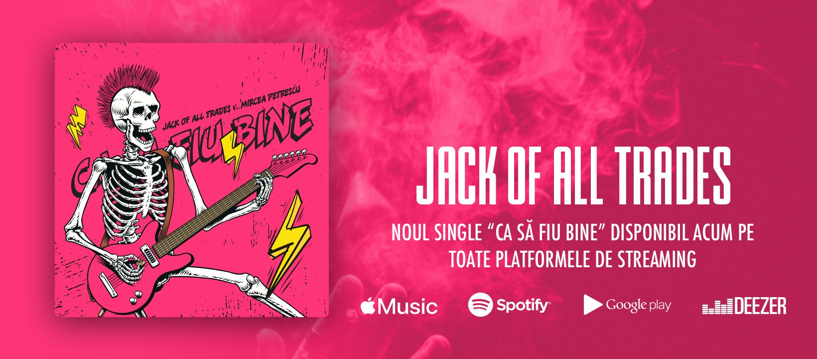 """Trupa Jack of all Trades a lansat piesa """"Ca Să Fiu Bine"""" feat. Mircea Petrescu, Sonic Taste"""