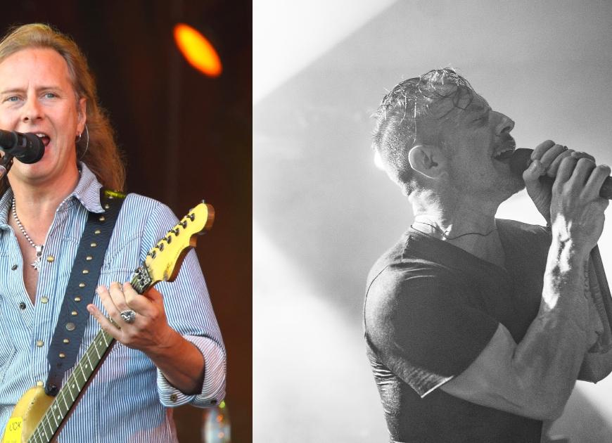 Jerry Cantrell de la Alice in Chains îpreuna cu Greg Puciato în studioul Foo Fighters