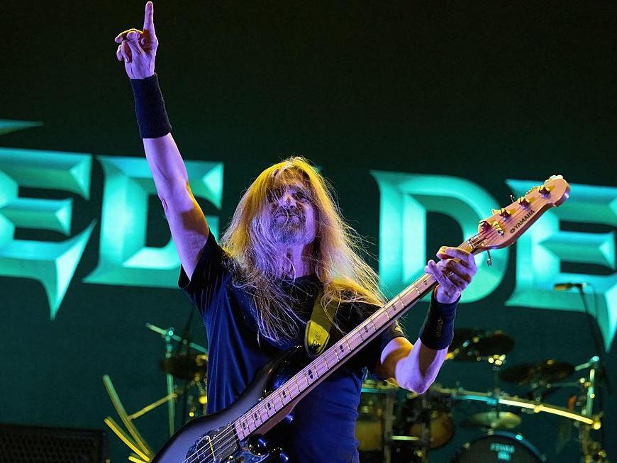Vezi imagini din primul concert Megadeth cu noul basist James Lomenzo
