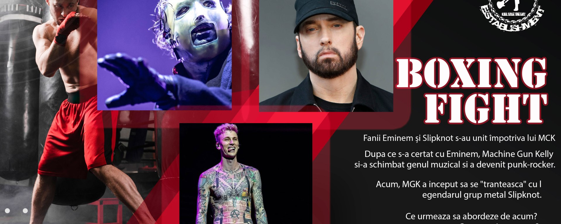 Fanii Eminem și Slipknot s-au unit împotriva lui MCK, după ce acesta s-a luat de legendara trupa rock