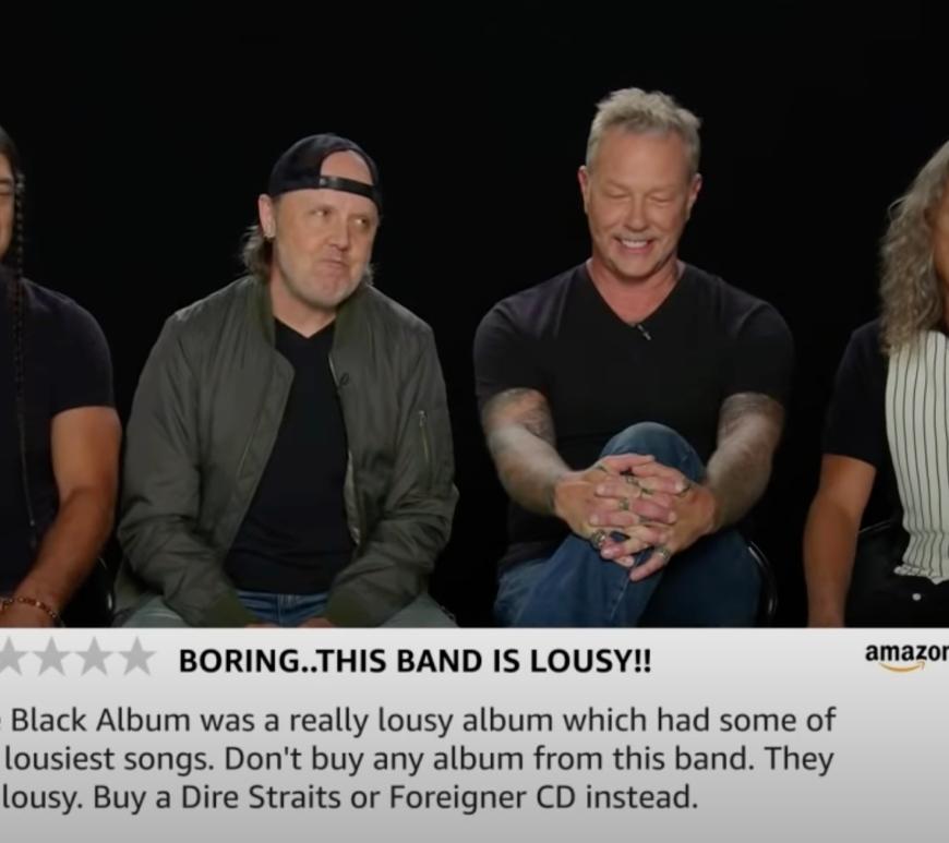 Trupa Metallica citește cele mai proaste recenzii ale albumului Black Album